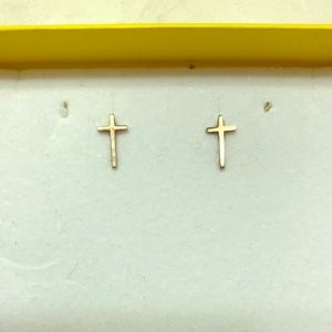 Alex and Ani Providence Collection Cross Earrings